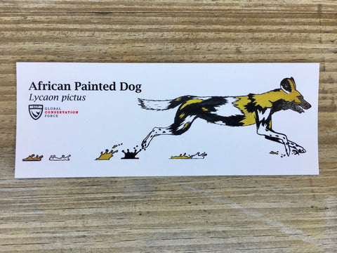 African Painted Dog Sticker - Racing Extinction