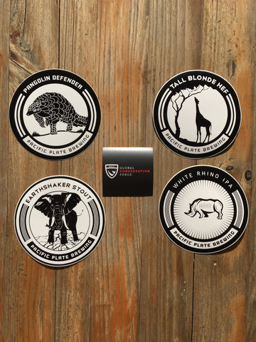 "Conservation Brews - ""4 pack"" with GCF sticker"