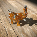 Handmade beaded elephant- Small