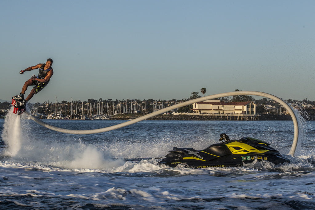 Flyboard and jet ski