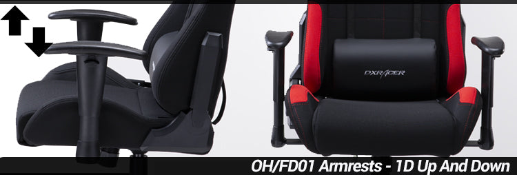 DXRacer OH/FD01 Formula Series Gaming Chair Adjustable Armrests