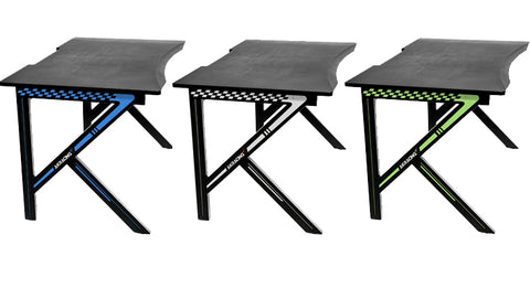 AKRacing Summit Gaming Desk in Blue, White, Green