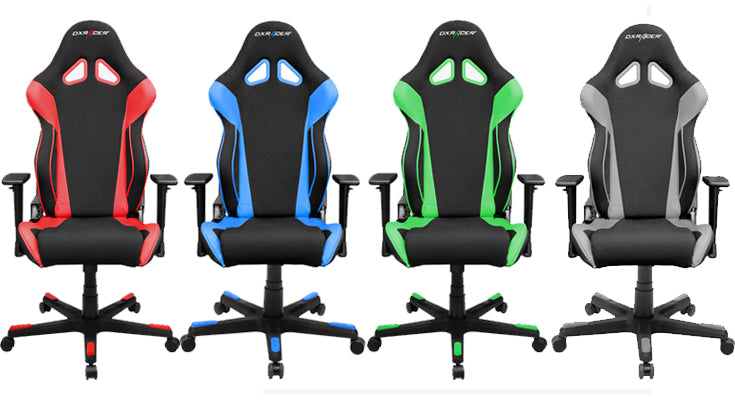 DXRacer OH/RW106 Racing Series Gaming Chairs In Red, Blue, Green and Gray