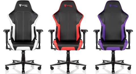 SecretLab Gaming Chairs Throne Series in White Red and Purple