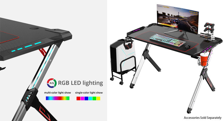 Eureka Gaming Desk LED R1-S Computer Desk