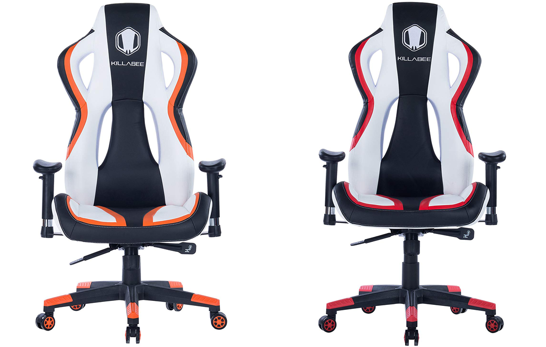 Killabee Gaming Chair in Red or Orange