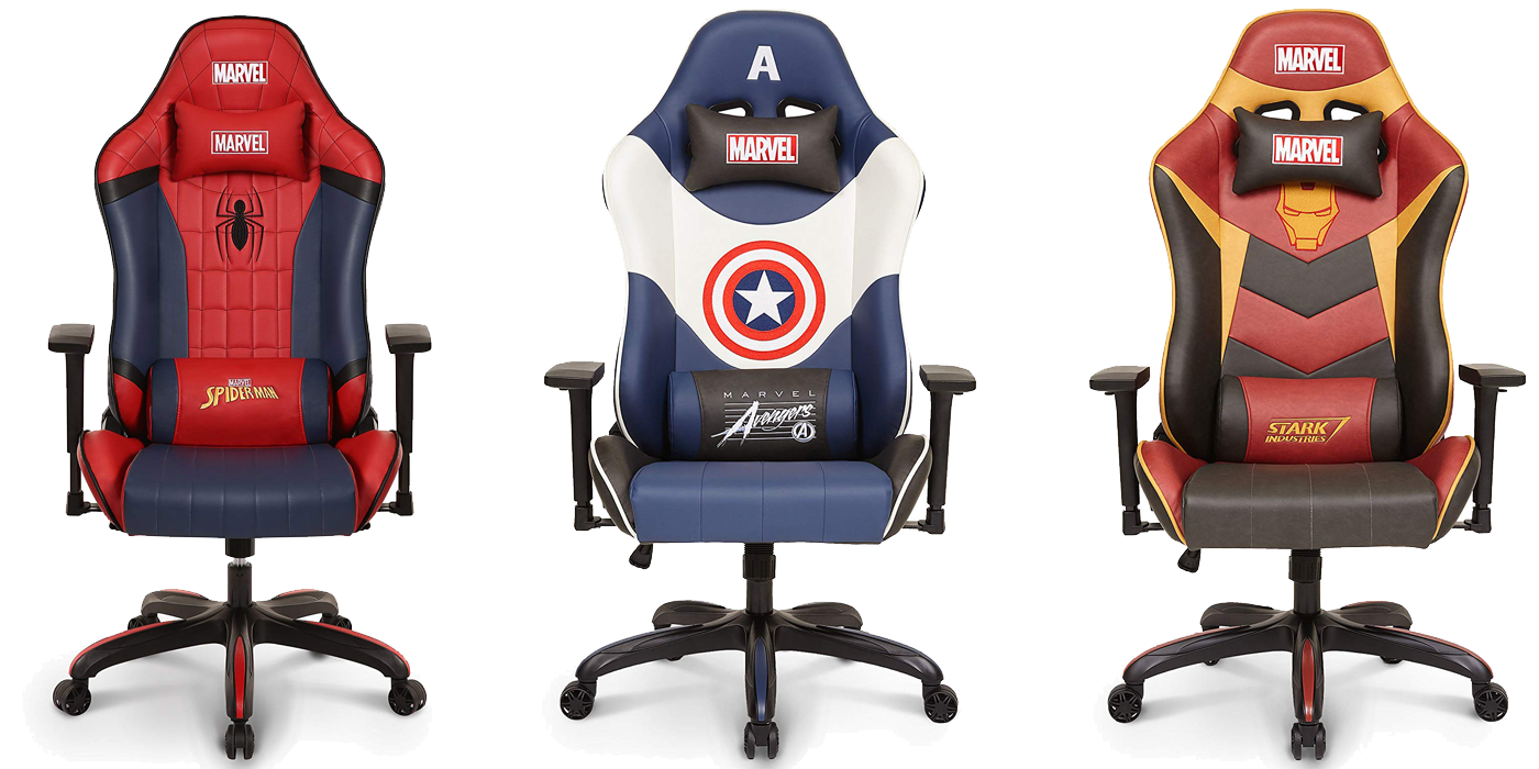 Marvel Superhero Gaming Chairs - Spiderman, Captain America, Iron Man