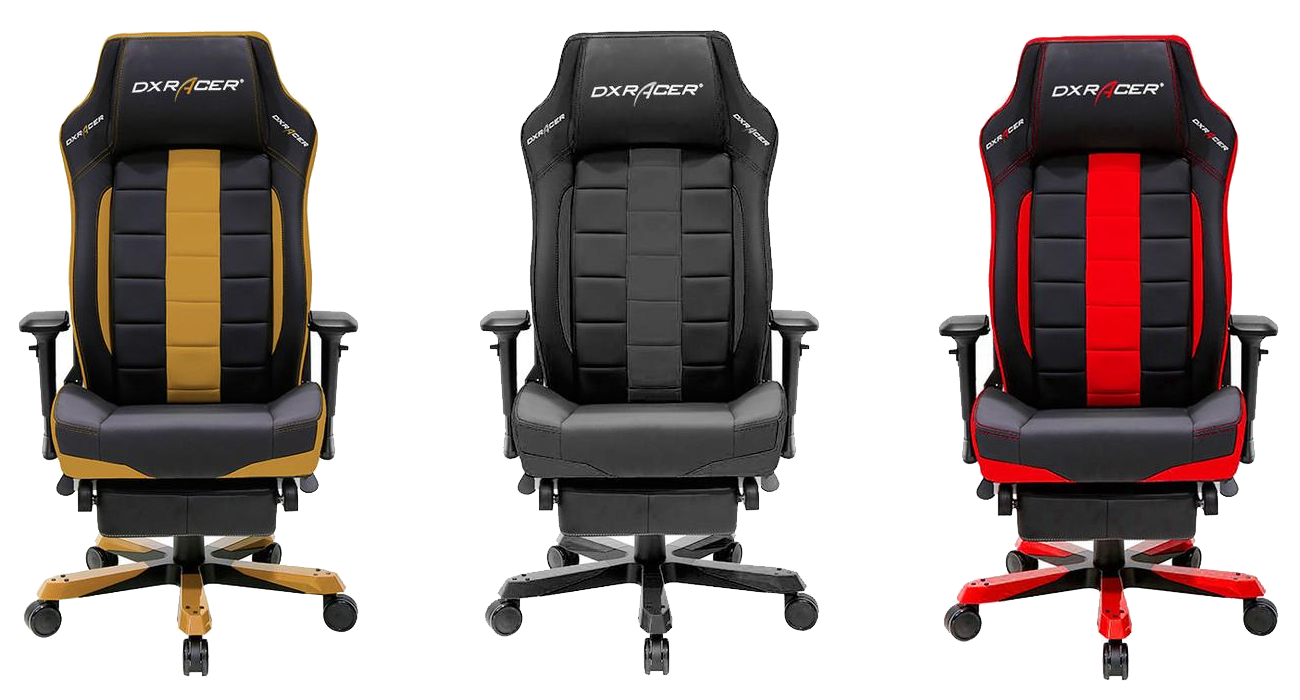 DXRacer OH/CS120 Classic Series Office Chairs with Footrest Black / Red / Coffee Tan
