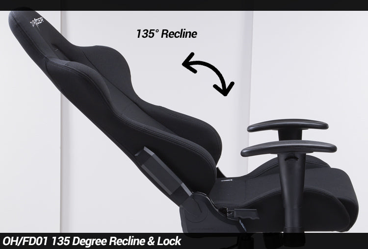 OH/FD01 Formula Series Gaming Chair by DXRacer Ergonomic Recline Lock