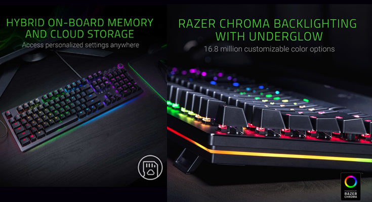 Razer Huntsman Elite Gaming Keyboard with Chroma RGB Lighting