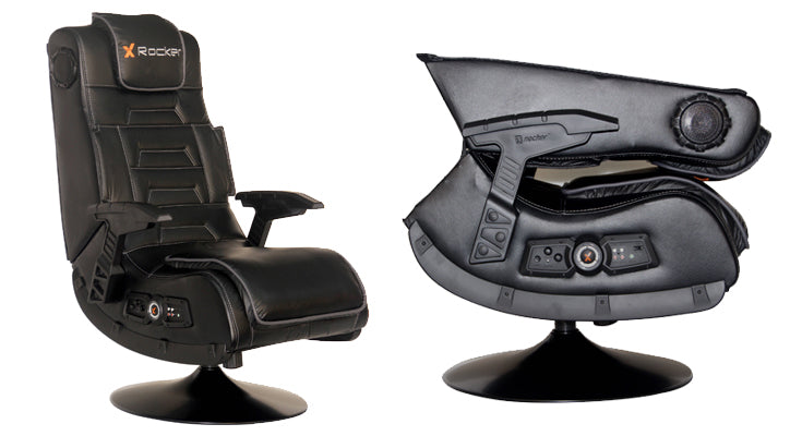 X-Rocker 2.1 Pedestal Audio Gaming Chair