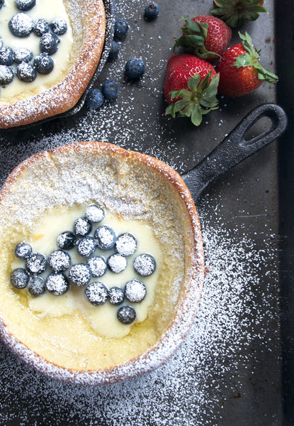 Dutch Baby With Cream & Berries