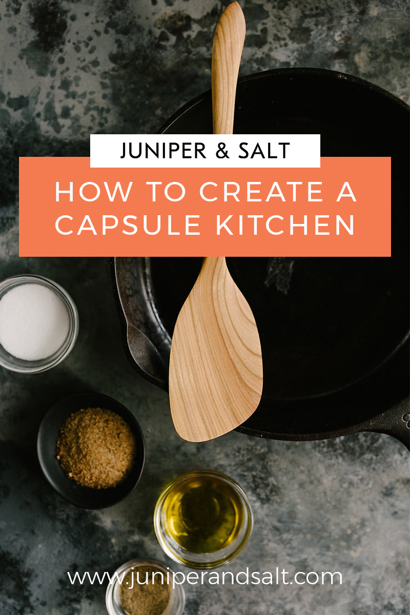 how to create a capsule kitchen