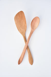 Fruitwood Spoon & Spatula Set