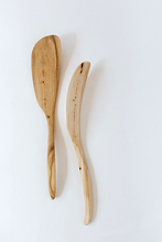 Load image into Gallery viewer, hand crafted right-handed juniper wood spatula