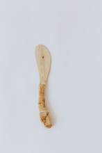 Load image into Gallery viewer, hand crafted inlaid mosaic handle juniper wood butter knife and cheese spreader