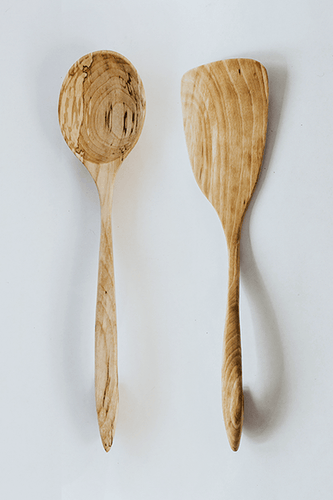Birch Spoon & Spatula Set