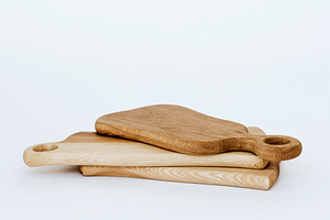 hand crafted oak wood serving and cutting boards