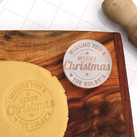 Christmas Cookie Stamp - Personalised