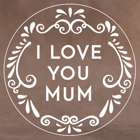 I Love You Mum Cookie Stamp (Generic)