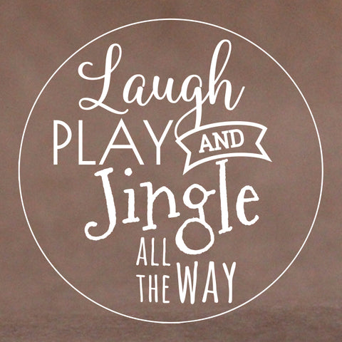 Christmas Cookie Stamp - Laugh, Play (Generic)