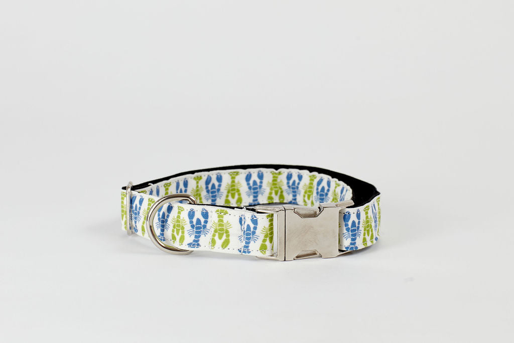 Dog Collar - Blue/Green Lobsters