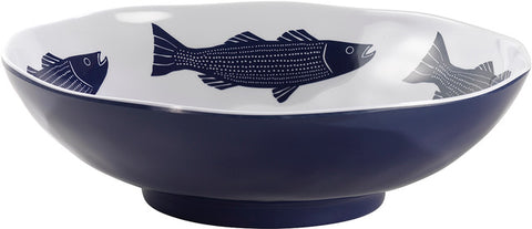 KN Striper Serving Bowl