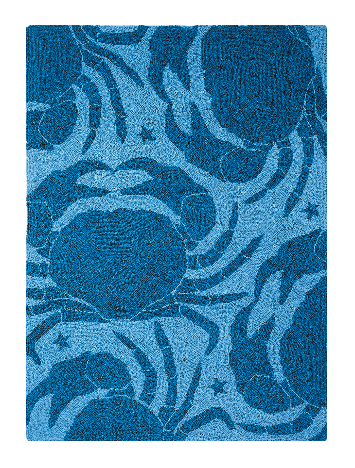 Blue Star Crab Rug