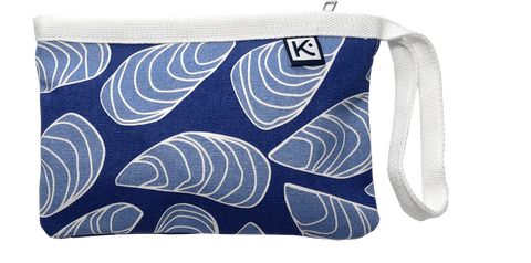 Dock Square Clutch-Blue Mussel