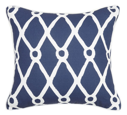 Fishnet Canvas Pillow