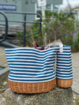 Canvas Basket Wine Tote