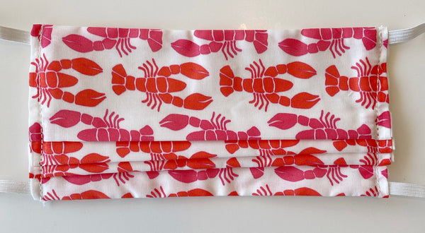 Pink Lobsters Mask - Elastic