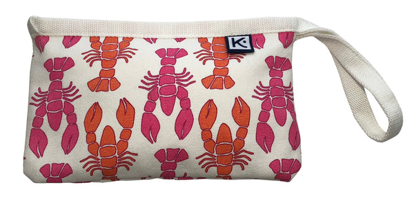 Dock Square Clutch-Pink Lobster