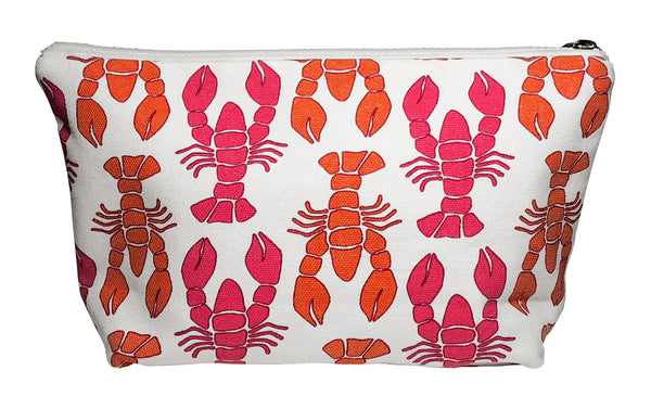Cosmetic Bag-Pink Lobster