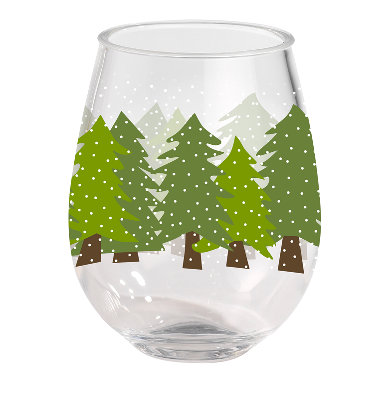 Acrylic Wine Tumbler - Midnight Snow