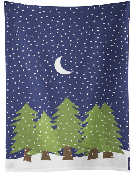 Midnight Snow Tea Towel