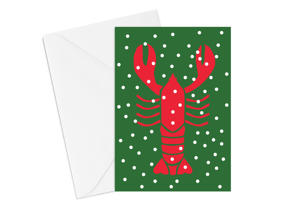 Holiday Lobster Card