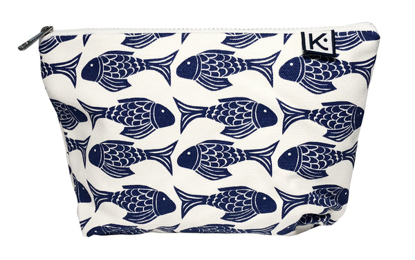 Cosmetic Bag-Navy Fish