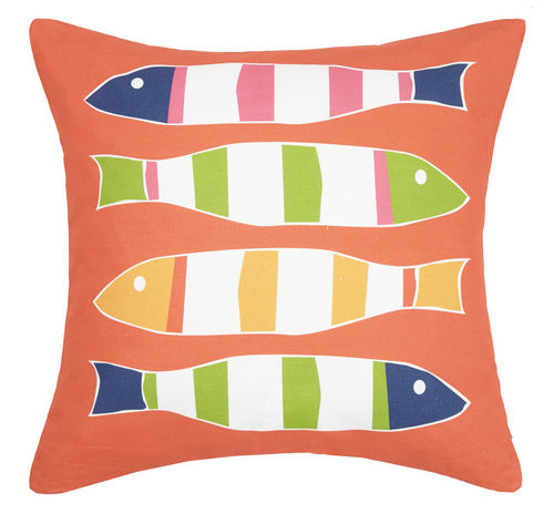 Orange Picket Fish Pillow
