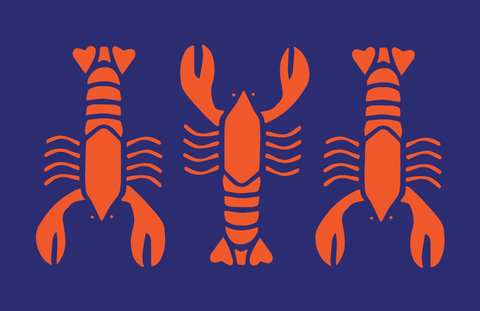 Hot Lobster Vinyl Placemat