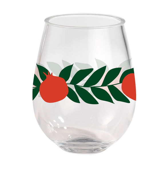 Acrylic Wine Tumbler - Pomegranate