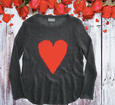 Wooden Ships Heart Sweater