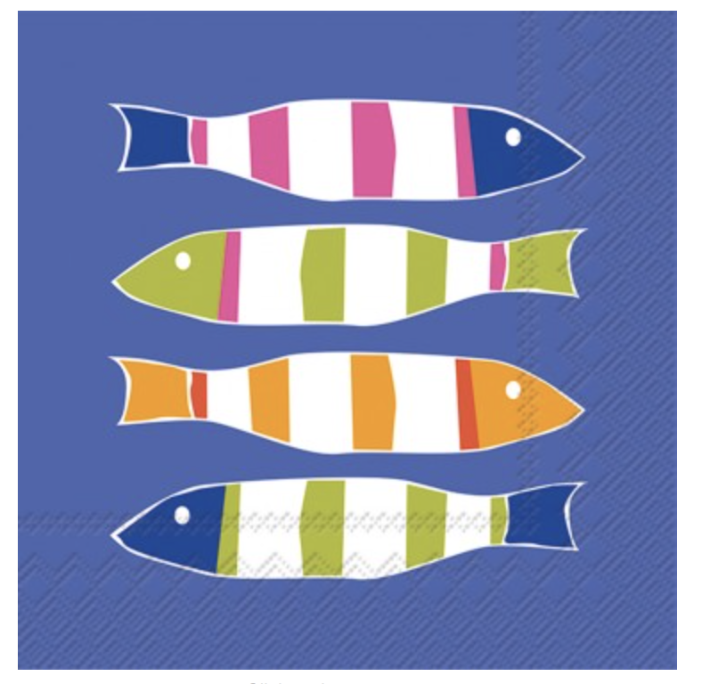 Picket Fish Cocktail Napkins