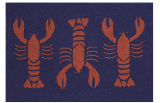 Hot Lobster Hook Rug