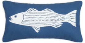 Striper Canvas Lumbar Pillow