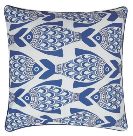 Porcelain Fish Pillow
