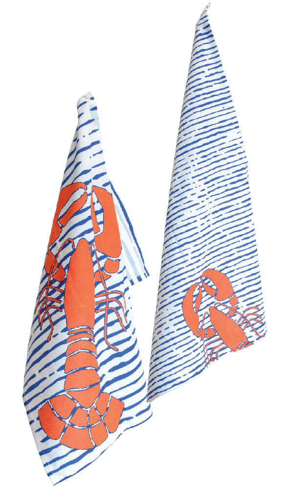 Waterline Lobster Tea Towel Set