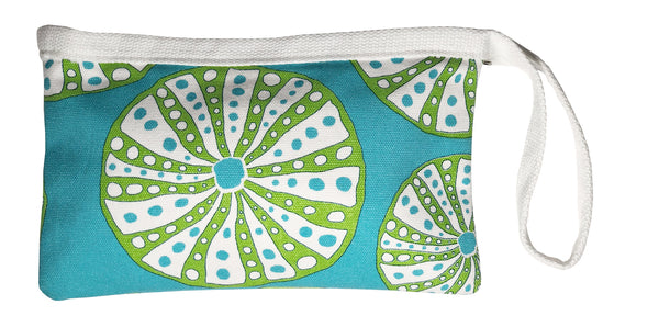 Dock Square Clutch-Turquoise Urchin