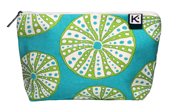 Cosmetic Bag-Turquoise Urchin