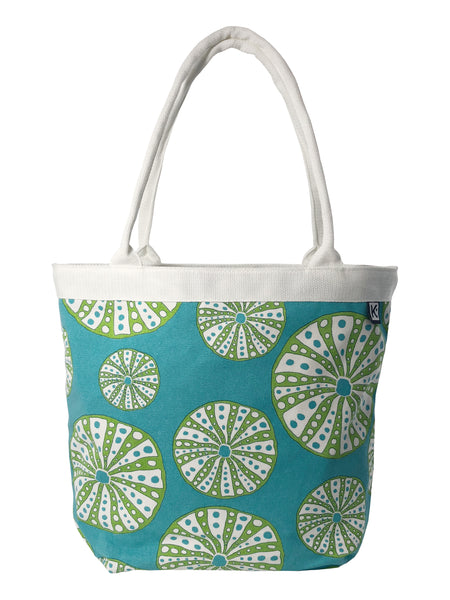 Dock Square Tote-Turquoise Urchin